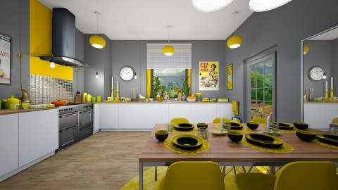 Yolk Yellow - Modern - Kitchen  - by camilla_saurus
