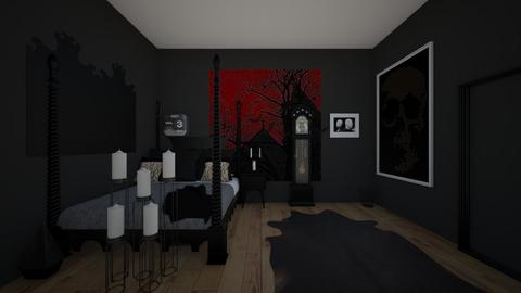 goth bedroom - Bedroom  - by crying_room