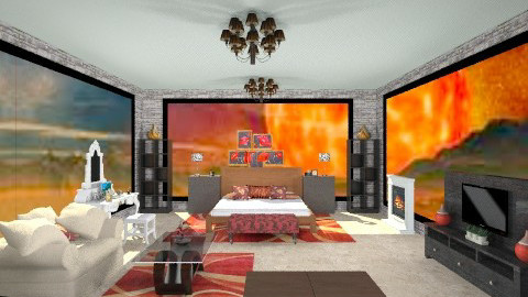 Saturn Bedroom - Rustic - Bedroom  - by AshiraLevana