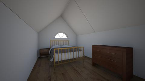 Attic Bedroom - Modern - Bedroom - by ClaireCora