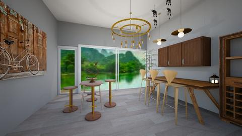 Just brown - Dining room - by RollPinkEra