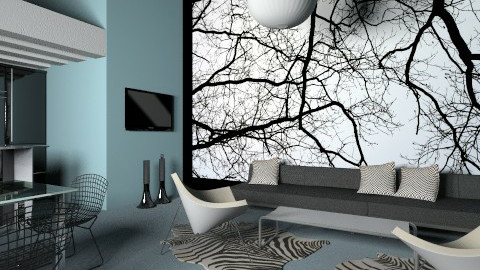 blue and black - Modern - Living room - by macus