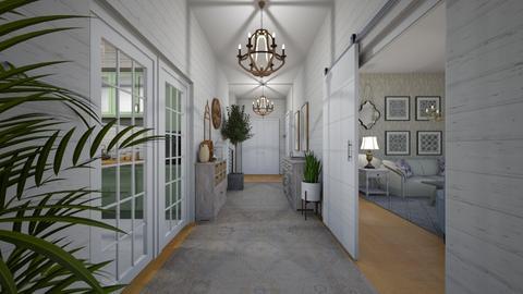 shabby chic hallway - by VioletKing