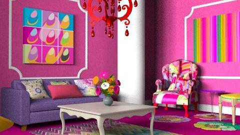 pink pop palace - Eclectic - Living room  - by chania