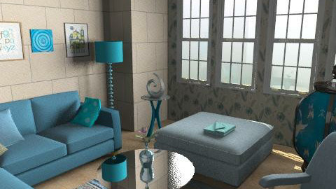 teal - Minimal - Living room  - by mogly