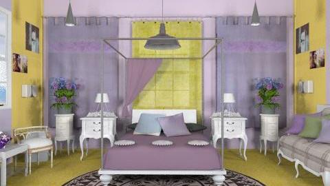 Purple_BR. - Eclectic - Bedroom  - by milyca8
