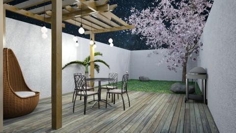 patio trasero - Rustic - Garden - by argepink