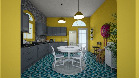 70s - Retro - Kitchen  - by JoyWillCome