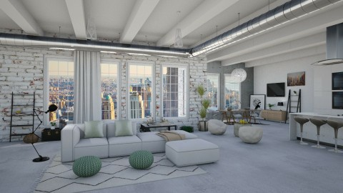 My style loft - Living room  - by bgref