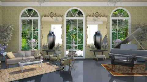 great gatsby living - Classic - Living room  - by arquicass