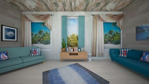 Beach living room - by Haylies_rooms