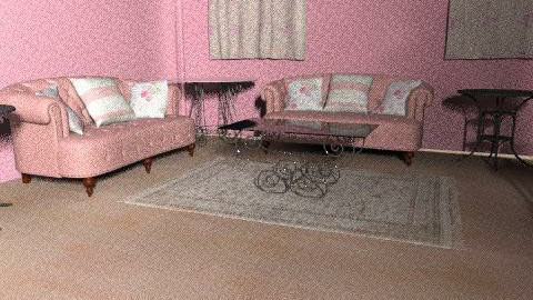 pink all over - Vintage - Living room  - by 89dudes