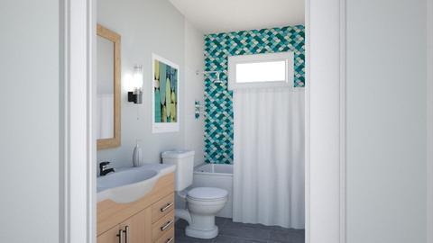 Cobos Guest bath blue til - Bathroom - by IdaJo