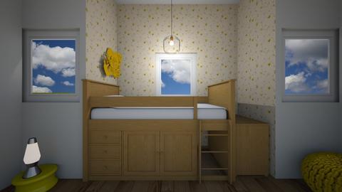 College Dorm - Bedroom  - by Design3690