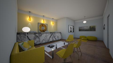 Yellow Inspired Workspace - Global - Office  - by GraceFilledInteriors