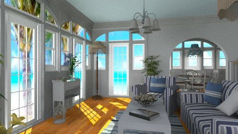 Hampton Beach Cottage - Vintage - Living room  - by Bibiche