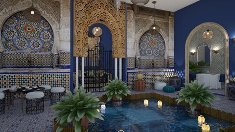Matilda's Moroccan Courtyard - by Matilda de Dappere