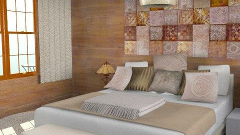 wood and white - Eclectic - Bedroom  - by chania