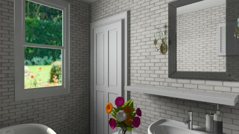 New Spring Door - Eclectic - Bathroom - by anetzham