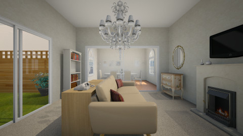 Sala de estar y comedor  - Glamour - Living room  - by FlorenciaaC