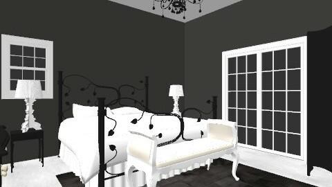black and white - Vintage - Bedroom  - by taylorbrown