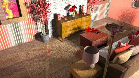 red cream - Country - Living room  - by Lizette Najera