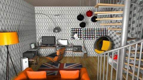 studio basement45 - Eclectic - Office  - by deedy saleh