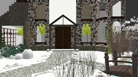 Alpine Interlude - Rustic - Garden  - by jujusinha