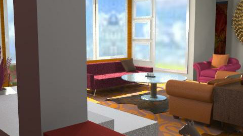 Classic Citron  - Retro - Living room  - by Interiors by Elaine