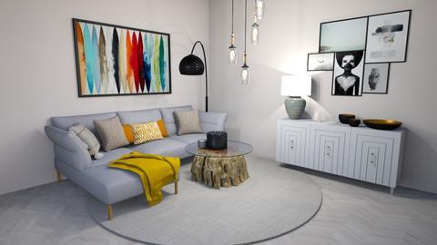 yellow - Living room  - by Sara Jacinto
