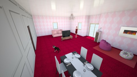Barbie livin room - Glamour - Living room  - by ravioli_megg877