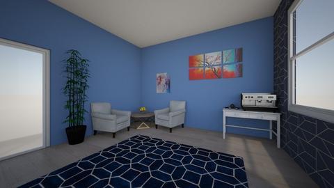 Prity in blue caffe area - Minimal - Office  - by Viktorija Kvas
