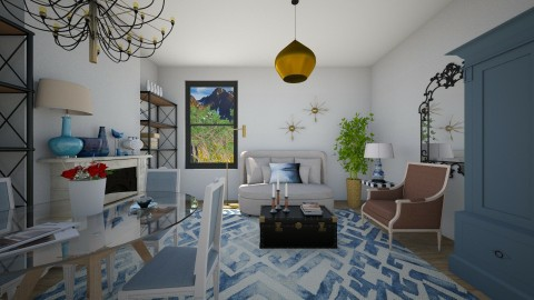 New Blue Living - Glamour - Living room  - by 3rdfloor