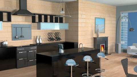 Sky View - Modern - Kitchen  - by channing4