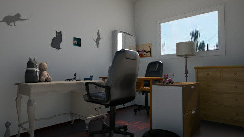 wilson office2 - Eclectic - Office  - by karlosakitty