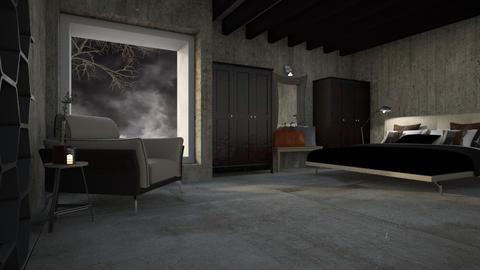 Gris - Bedroom  - by LuzMa HL