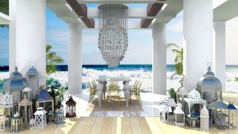 Beachside Dining - Eclectic - Garden  - by Baustin
