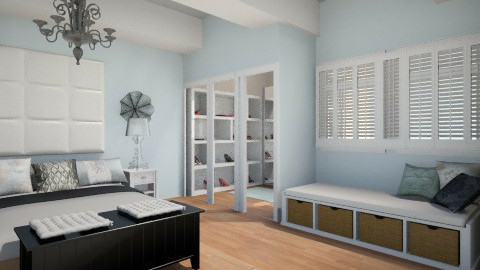 Ice Blue Dream - Glamour - Bedroom  - by Addie Smooches