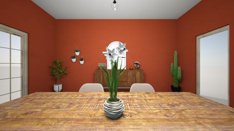 1st living room design  - Living room  - by Katlopez2003