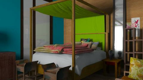 tropic guest room - Eclectic - Bedroom  - by shelleycanuck