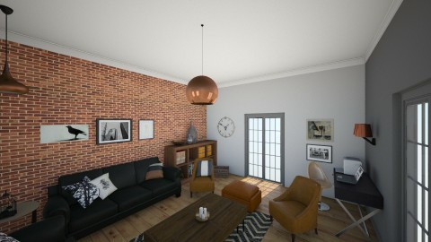 industrial livingroom - Rustic - Living room - by Andrea_