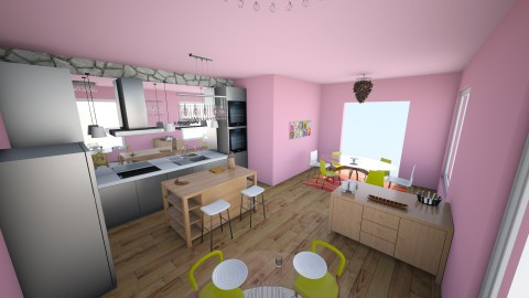 Danny Quinn Kitchen - Retro - Kitchen  - by dnnyqnn