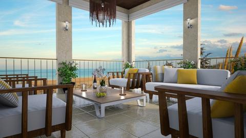 Oceanfront View - Garden  - by GraceKathryn