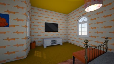 Orange Room - Bedroom - by lildivajo