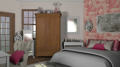 pink - Glamour - Bedroom  - by sarahl