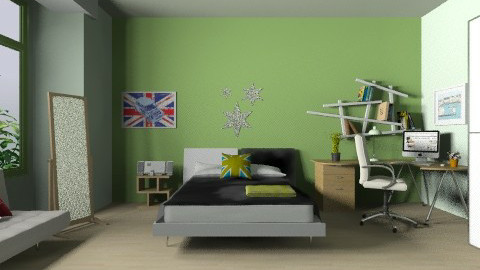 teenager room - Modern - Bedroom - by dungtran