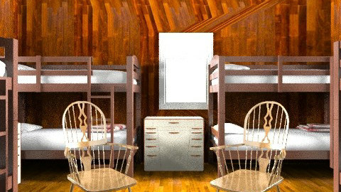 Camp Cabin - Country - Bedroom  - by Katherine100