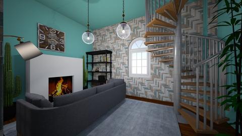 Ney York living room  - Living room  - by FANGIRLdesigner