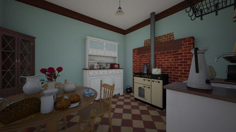 Coal House At War - Vintage - Kitchen  - by PeculiarLeah