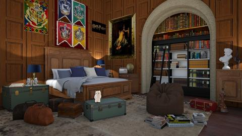 Harry Potter Bedroom - Retro - Bedroom  - by Louisa caulton
